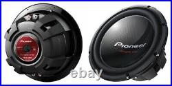 Pioneer Tsw312d4 12-inch 1600 Watts Max Dual 4-ohm Voice Coil Car Subwoofer -new