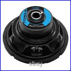 Planet Audio Torque TQ10S 10 Inch 1200 Watt 4 Ohm Car Audio Subwoofer (4 Pack)