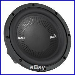 Polk MM1 Series 8 Inch 900 Watt 4 Ohm Dual Voice Coil Car Audio Marine Subwoofer