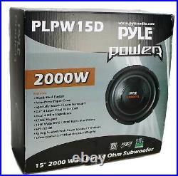 Pyle PLPW15D 15-inch 2000 Watt 4-Ohm DVC Power Car Audio Subwoofer (3 Pack)
