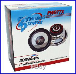 Pyramid 6 Inch 300 Watt 4 Ohm Car Audio Power Audio Subwoofer Woofer (8 Pack)