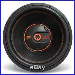 Quantum Audio QW300015D4 15-Inch QW Series DVC 4-Ohm Subwoofer, 3000W