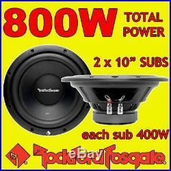 Rockford Fosgate 10 10-inch 400W each CAR AUDIO Bass Sub Subwoofers 4ohm x 2