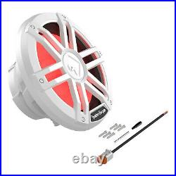 Rockford Fosgate M1D4-10 Color Optix DVC 4-Ohm Marine 10-Inch Subwoofer, White