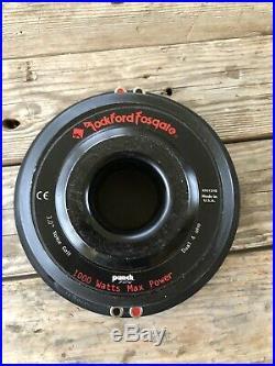 Rockford Fosgate Punch Hx2 10 Inch Subwoofer Dual 4 Ohms (RFD1210)