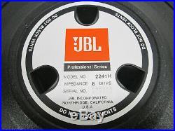 SINGLE JBL 2241H 18 inch Low Freq LF Transducer 8 Ohm Woofer Speaker 600W #1327