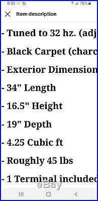SUNDOWN AUDIO X-15 V. 2 15 DUAL 2-OHM 1500W RMS SUBWOOFER, enclosure 32 hz