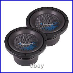 Soundstream 500W 8 Inch Reference R3 Series Dual 2 Ohm Subwoofer, Black (2 Pack)