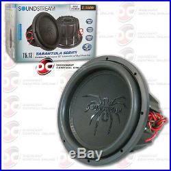 Soundstream T5.124 12 Tarantula Series Car Audio Dual 4-ohm Subwoofer 1000w Rms