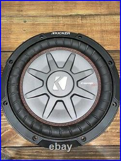 TWO KICKER 43CWRT102 CompRT Shallow Mount 10 inch 2ohm Subwoofer Black