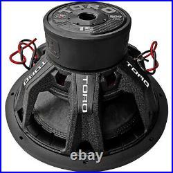 Toro Tech Audio Fierce15, 15 Inch 800 Watts RMS Dual 4 Ohm Car Subwoofer