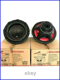Two Audiopipe Txx-bdc1-12 12-inch 12 Dual 4-ohm Car Audio Subwoofer 600w Rms