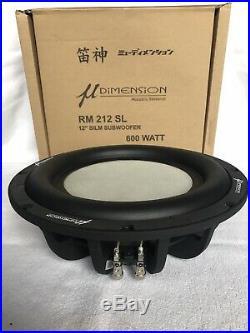 U-Dimension RM 212 SL 12-Inch Subwoofer 30cm/12 400 RMS 600 WithPeak 2x2Ohm