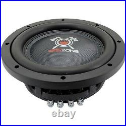 Warzone 10 Inch 1200 Watt Car Audio Shallow Subwoofer with 4 Ohm DVC Power (One)