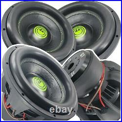 Warzone G7 12 Inch 9600 Watts Car Audio Subwoofer with 2 Ohm DVC Power (2 Woofers)