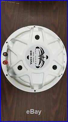 Wet Sounds 10 inch Marine Free Air Subwoofer 2-ohms White SW Grill