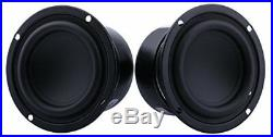 Yeeco Pack of Two 3 inch 8 Ohm 25W Mini Car Audio Speakers Subwoofer Woofer Sub